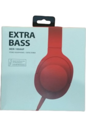 PSL Kulak Üstü Kulaklık Extra Bass Mdr-100Aap - Kırmızı