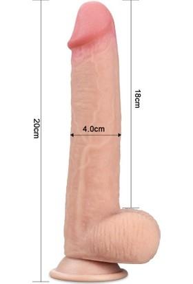MeyraBest Sliding Skin Dual Gerçek Doku Realistik Dildo 20 cm