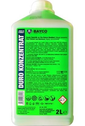 Bayco Duro Konzentrat Zemin Temizlik ve Cila Bakım Maddesi (Yüksek Konsantre) 2 Lt