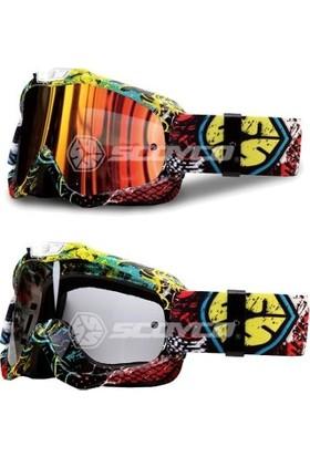 Scoyco Gözlük G-04 Cross (Çift Camlı)