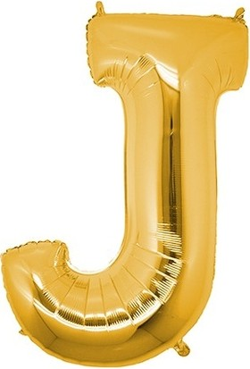 Buldum J Harfi Altın Gold Folyo Balon Harf 100 cm