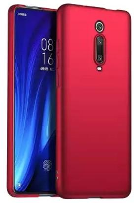Quse Xiaomi Mi 9T Premium Silikon Kılıf + 5D Tam Kaplayan Ekran Koruyucu Kırmızı