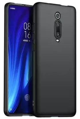Quse Xiaomi Mi 9T Premium Silikon Kılıf + 5D Tam Kaplayan Ekran Koruyucu Siyah