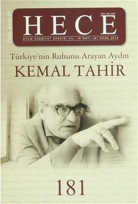 Hece Aylık Edebiyat Dergisi Kemal Tahir Özel Sayısı: 181