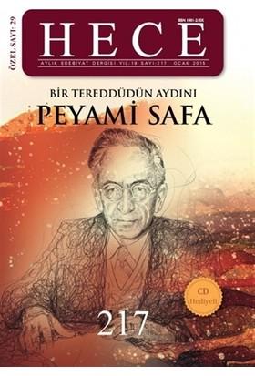 Hece Aylık Edebiyat Dergisi Peyami Safa Özel Sayısı Sayı: 29 / 217