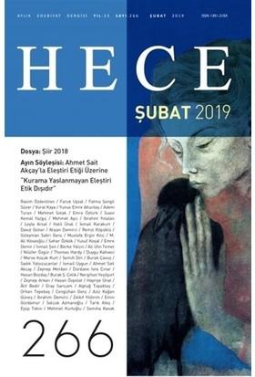 Hece Aylık Edebiyat Dergisi Sayı: 266 Şubat 2019