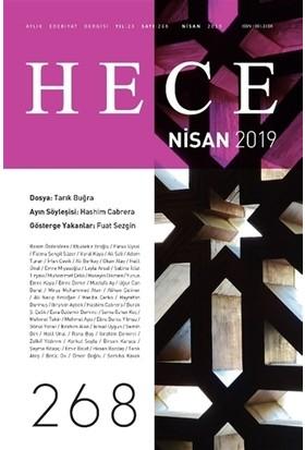 Hece Aylık Edebiyat Dergisi Sayı: 268 Nisan 2019