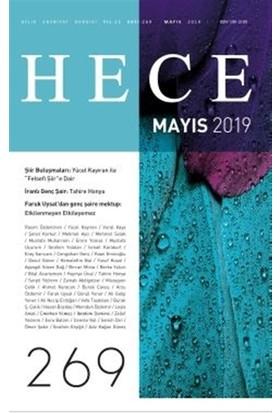Hece Aylık Edebiyat Dergisi Sayı: 269 Mayıs 2019