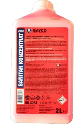 Bayco Sanitar Konzentrat Saniter Alan Temizleme Maddesi 2 lt