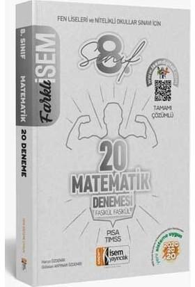 İsem Yayıncılık 2020 LGS Farklı İsem Yayıncılık 8. Sınıf Matematik 20'li Sarmal Deneme