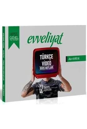 İsem Yayıncılık 2020 Evveliyat KPSS Genel Yetenek Türkçe Video Ders Notları
