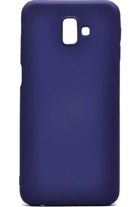Kaltel Gsm Samsung Galaxy J6 Mat Premier Silikon Kılıf + USB Kablo + Cam Ekran Koruyucu - Lacivert