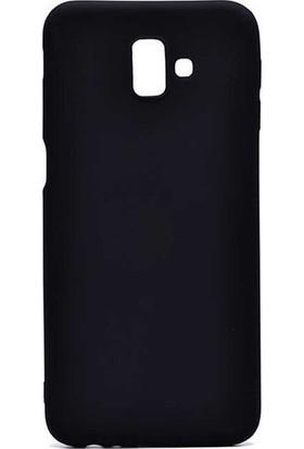Kaltel Gsm Samsung Galaxy J6 Mat Premier Silikon Kılıf + USB Kablo + Cam Ekran Koruyucu - Siyah