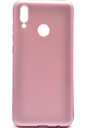 Kaltel Gsm Huawei Y7 Prime 2019 Mat Premier Silikon Kılıf + USB Kablo + Cam Ekran Koruyucu - Rose Gold