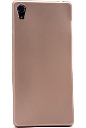 Kaltel Gsm Sony Xperia Z4 Mat Premier Silikon Kılıf + USB Kablo + Cam Ekran Koruyucu - Gold