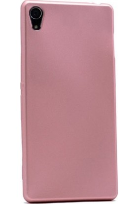 Kaltel Gsm Sony Xperia Z4 Mat Premier Silikon Kılıf + USB Kablo + Cam Ekran Koruyucu - Rose Gold