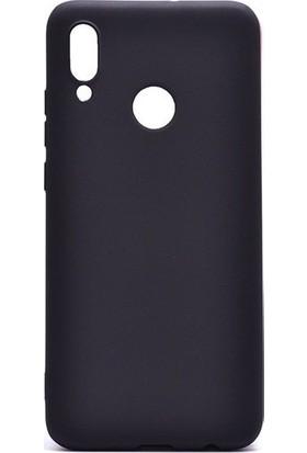 Kaltel Gsm Huawei Y7 Prime 2019 Mat Premier Silikon Kılıf + USB Kablo + Nano Ekran Koruyucu - Siyah