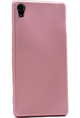 Kaltel Gsm Sony Xperia Z4 Mat Premier Silikon Kılıf + USB Kablo + Nano Ekran Koruyucu - Rose Gold