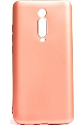 Kaltel Gsm Xiaomi Mi 9T Mat Premier Silikon Kılıf + USB Kablo + 5D Full Kaplayan Tam Koruma Tüm Ekran Koruyucu - Rose Gold