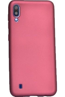 Kaltel Gsm Samsung Galaxy M10 Mat Premier Silikon Kılıf + USB Kablo - Mürdüm