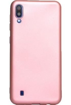 Kaltel Gsm Samsung Galaxy M10 Mat Premier Silikon Kılıf + USB Kablo - Rose Gold