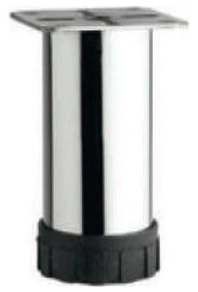 Dereli̇ Punta Ayak Siyah Bingo O42 10 cm Metal Gövde Krom 4'lü