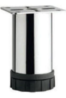 Dereli̇ Punta Ayak Siyah Bingo O51 10 cm Metal Krom Gövde 4'lü