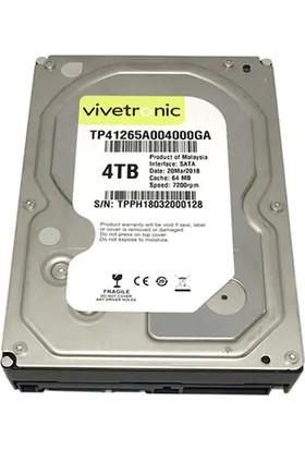 "Vivetronic 4TB 3.5"" 7200RPM 64MB Cache Sata 3 Hard Disk TP41265A004000GA"