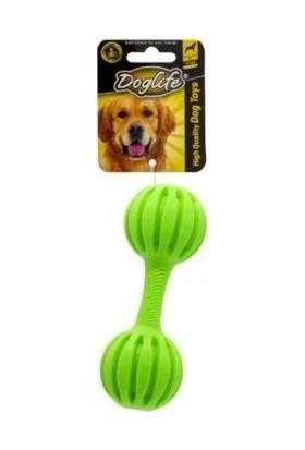 Doglife Köpekler İçin Kauçuk Dumbell Zilli Oyuncak 15 cm