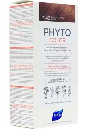 Phyto Phytocolor Bitkisel Saç Boyası 7.43 - Kumral Bakır Dore