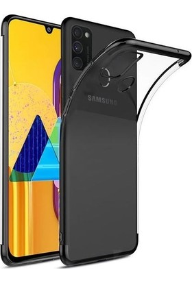 Teleplus Samsung Galaxy M30s Kılıf Lüks Lazer Silikon Kılıf Siyah