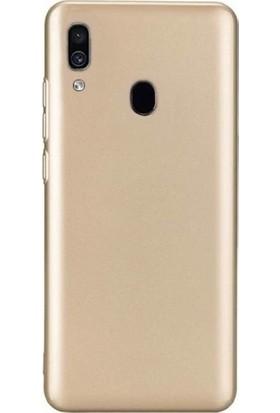 Melikzade Samsung Galaxy A20 İnce Mat Silikon Kılıf - Gold