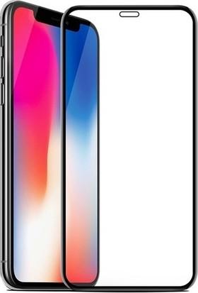 Zore Apple iPhone XS Max 10D Tam Kaplayan Curved Temperli Ekran Koruyucu Siyah