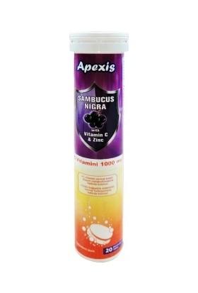 Apexis Sambucus Nigra Vitamin C & Zinc 1000 Mg 20 Efervesan Tablet