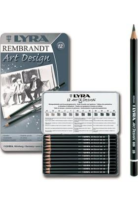 Lyra Rembrandt Art Design Profesyonel Dereceli Kalem Seti (Karakalem Eskiz Çizim Seti) 12'li Metal Kutu