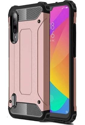Tbkgsm Xiaomi Mi9 Lite Çift Katmanlı Tank Kapak + Nano Ekran Koruyucu Rose Gold