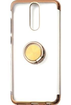 Tbkgsm Meizu Note 8 Lazer Yüzüklü Silikon Kılıf Gold