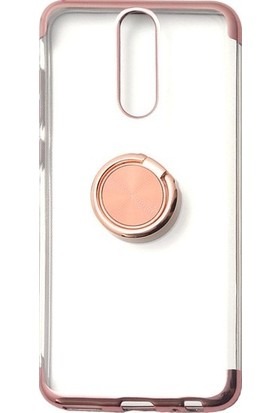 Tbkgsm Meizu Note 8 Lazer Yüzüklü Silikon Kılıf + Nano Ekran Koruyucu Rose Gold