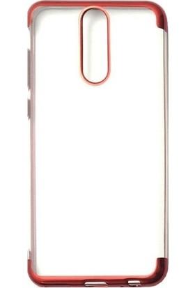 Tbkgsm Meizu Note 8 Lazer Silikon Kılıf + Nano Ekran Koruyucu Kırmızı