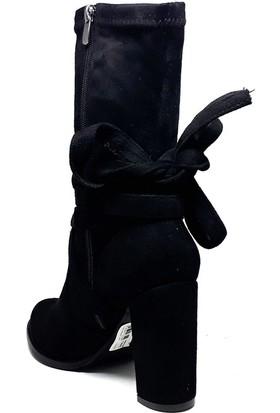 Shop And Shoes 087-719 Kadın Bot Siyah Süet