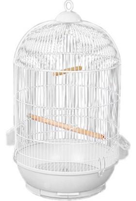 Ans Dayang Yuvarlakkuş Kafesi40 cm x 70 cm Beyaz