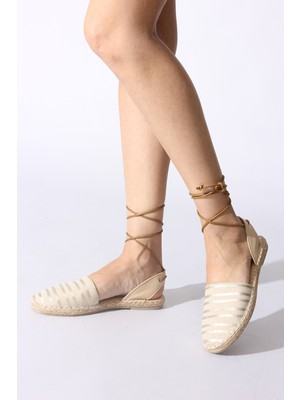 Rovigo Plus Bej Varak Kadın Sandalet