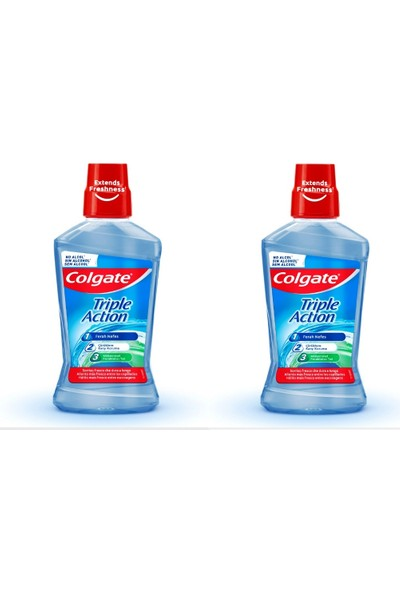 Colgate Ağız Bakım Suyu Üçlü Etki 500 ml x 2 Adet