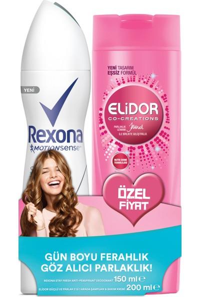 Rexona Kadın Deodorant Sprey Stay Fresh 150 ml + Elidor Şampuan Güçlü Ve Parlak 200 ml