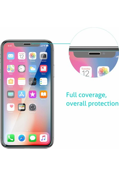 Case 4U Apple iPhone X Temperli Cam Ekran Koruyucu