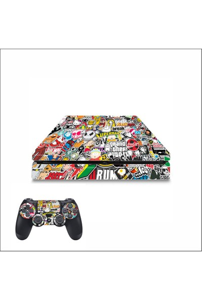 Art Point PS4 Slim Sticker Bomb Hellaflush Kaplama Skin Cover Sticker