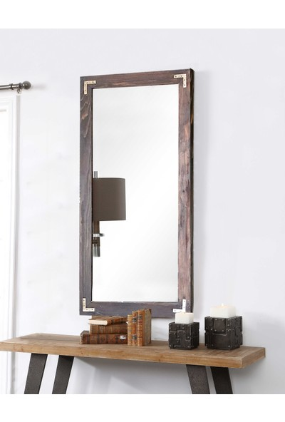 Hepsi Home Dekoratif Ahşap Ayna 55 x 110 Ceviz Dikey