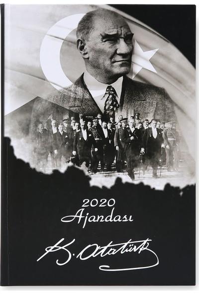 Liz Ajanda 2020 Atatürk Kuşe Kapak Ajanda 17 x 24 cm