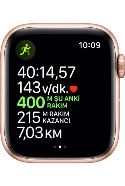 Apple Watch Seri 5 44mm GPS Gold Alüminyum Kasa ve Pink Sand Spor Kordon MWVE2TU/A