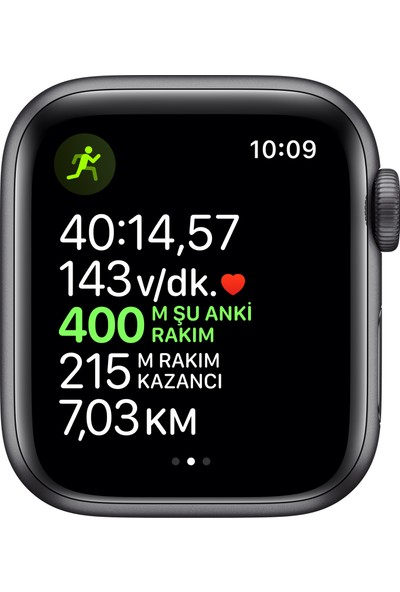 Apple Watch Seri 5 40mm GPS Space Grey Alüminyum Kasa ve Siyah Spor Kordon MWV82TU/A